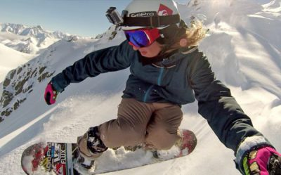 GoPro helmet mount for Snowboard