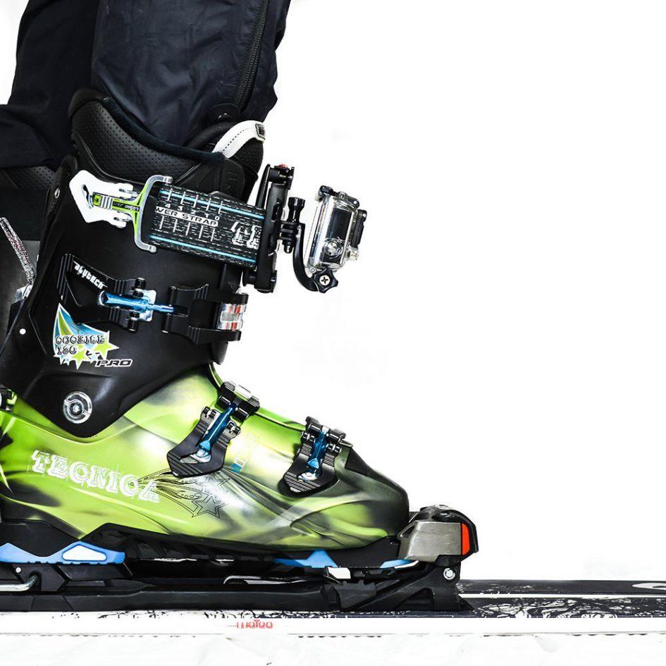 GoPro ski boot mount
