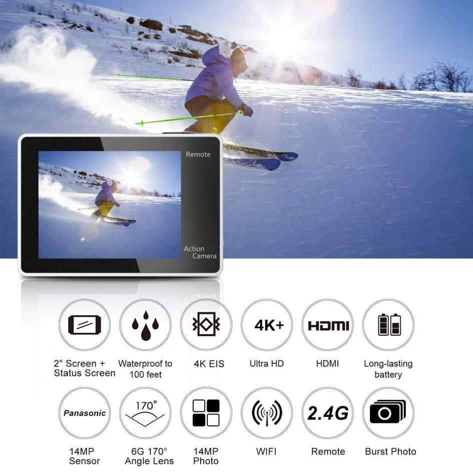 Eken H6S video resolutions