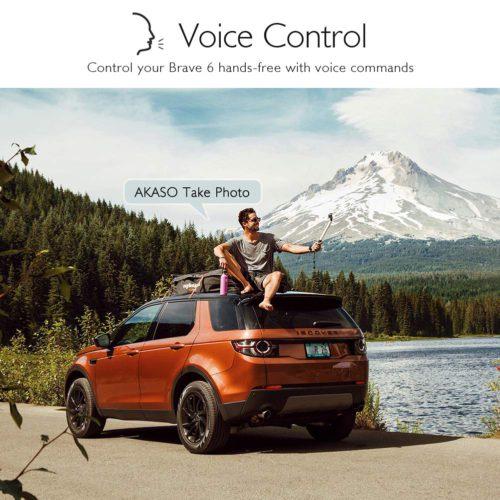 Akaso Brave 6 voice control
