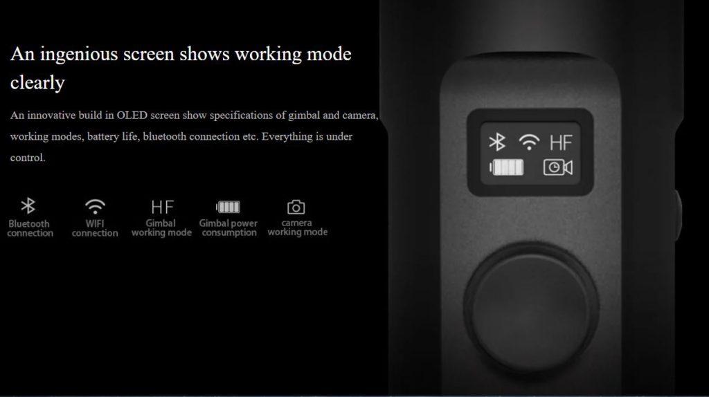 Feiyu Tech G6 screen