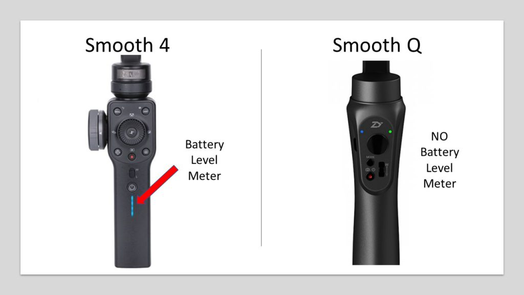 smooth 4 battery meter vs smooth q