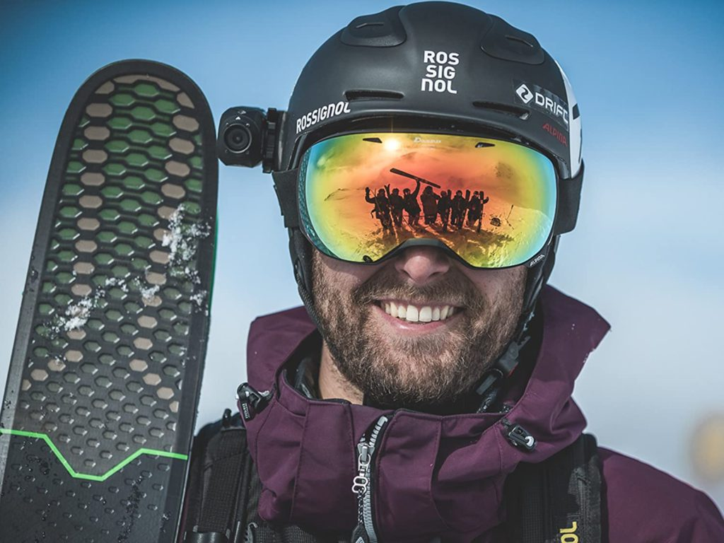 Drift Ghost 4K Ski helmet mount