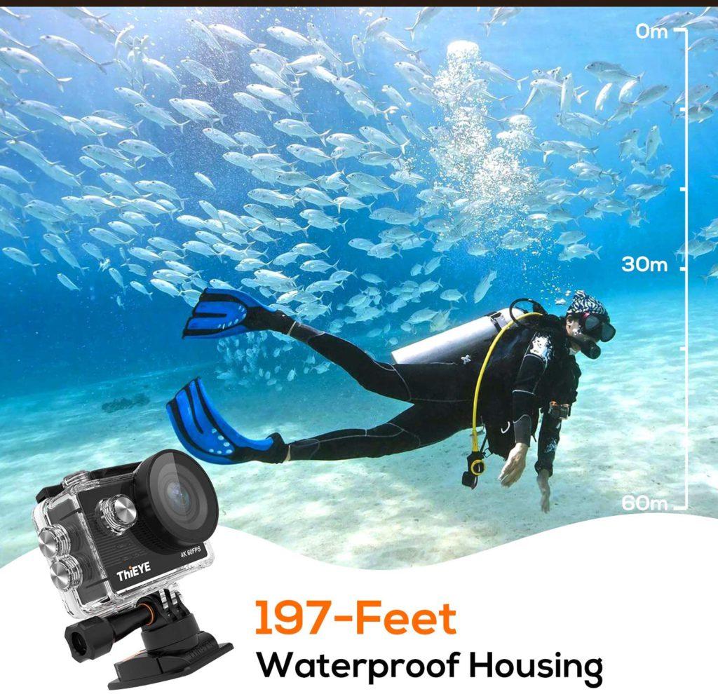 ThiEYE T5 Pro underwater