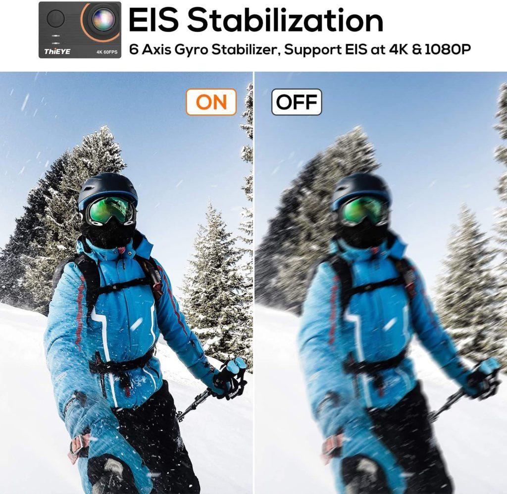ThiEYE T5 Pro Stabilization