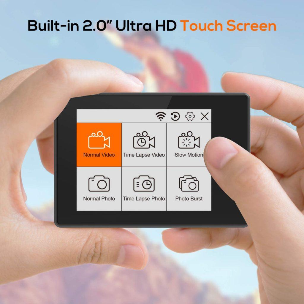 ThiEYE T5 Pro touchscreen