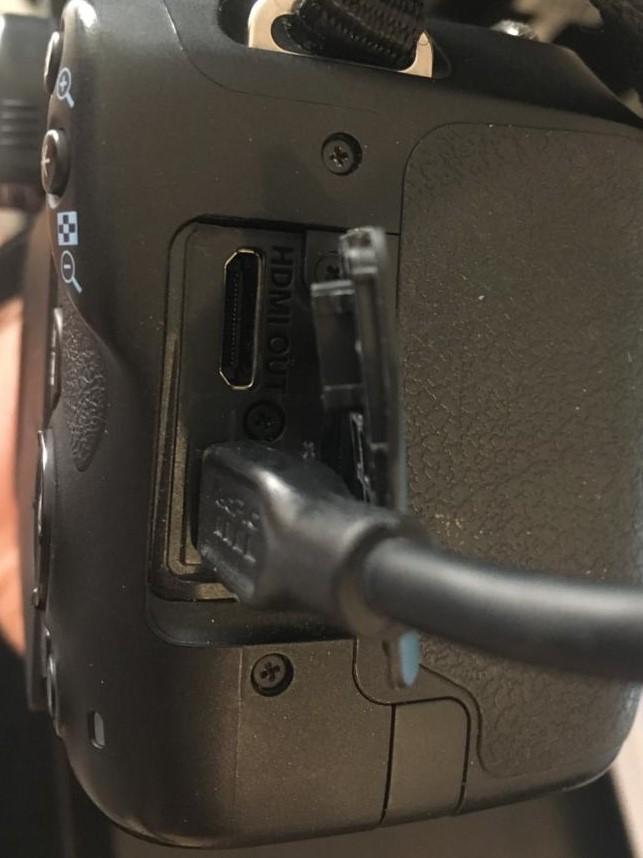DSLR as webcam via usb