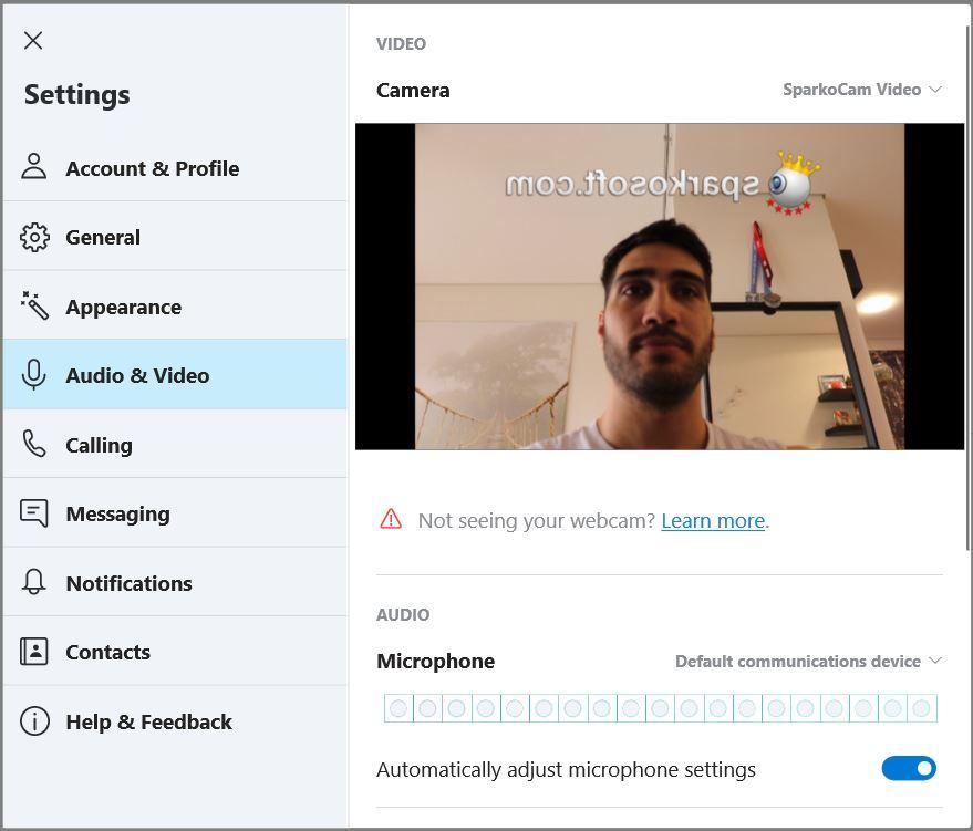 DSLR as webcam in Skype