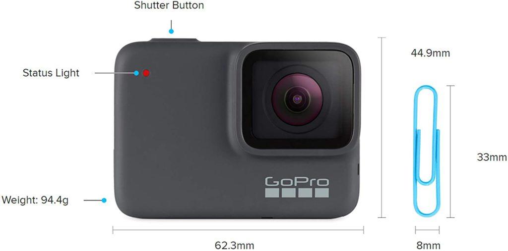 GoPro Hero 7 Silver Dimensions