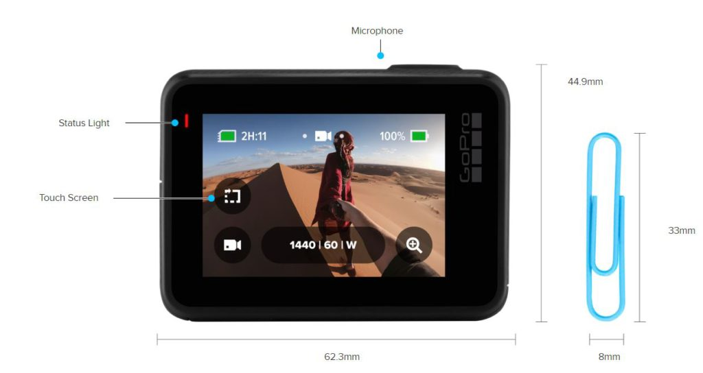 GoPro Hero 7 Black Back Touchscreen