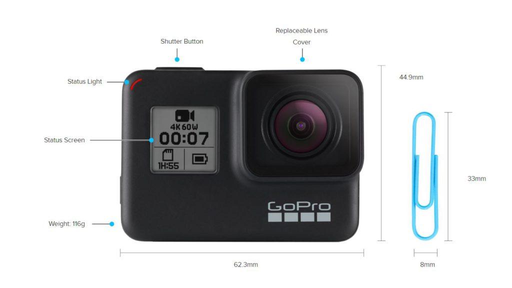 GoPro Hero 7 Black Dimensions