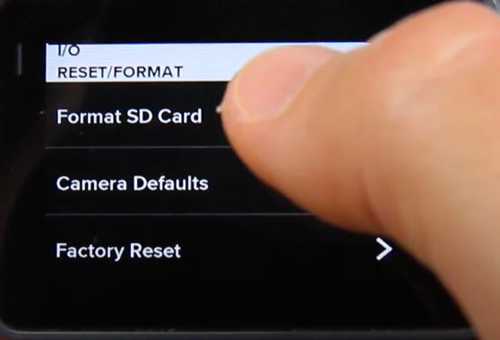 Format GoPro Hero5 Black SD card Step 2
