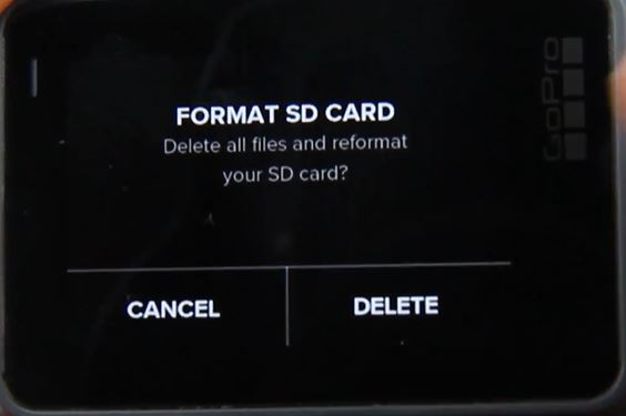 Format GoPro Hero5 Black SD card Step 3