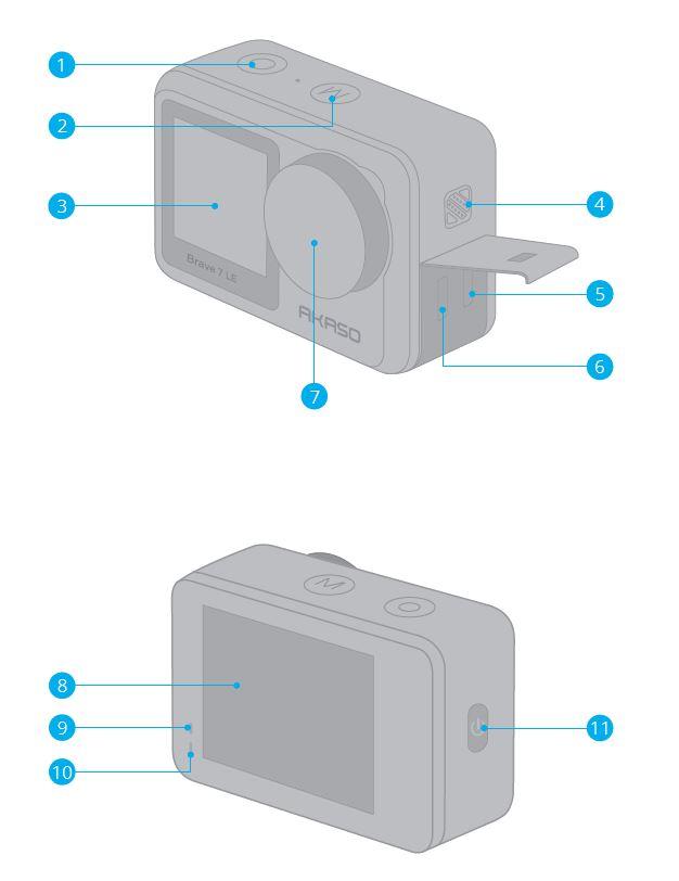 Akaso Brave 7 LE design and build
