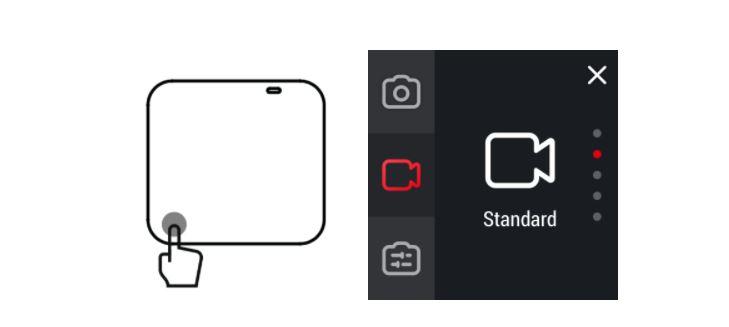 Insta360 One R Change Modes