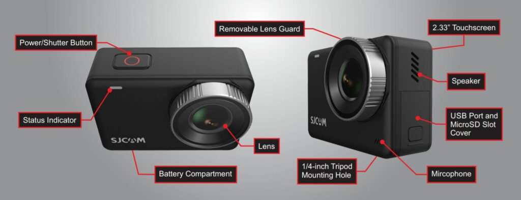 SJCAM SJ10 Pro Control and Buttons