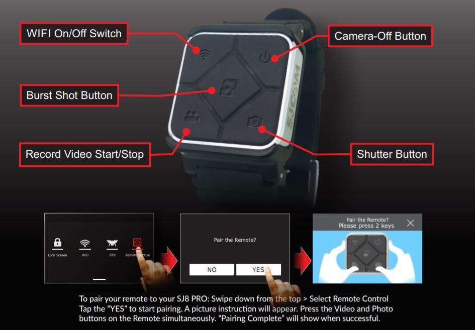 SJCAM SJ10 Pro Remote Control