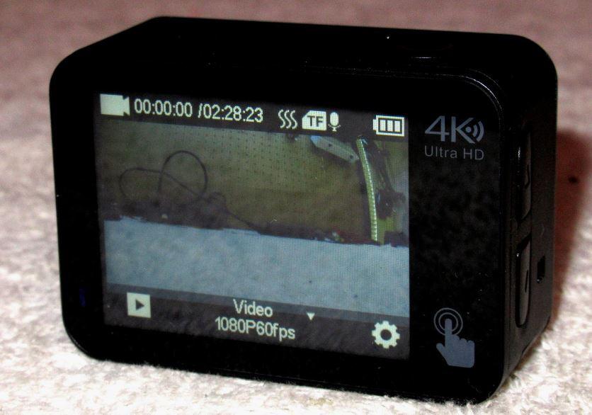 Campark X30 touchscreen