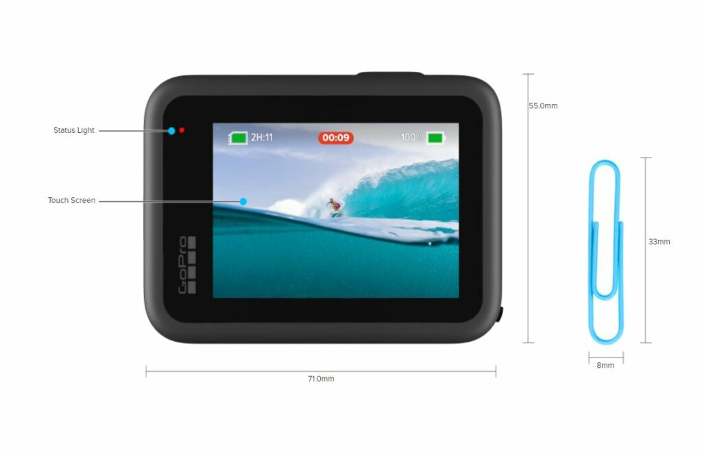 GoPro Hero9 Black Back Side_Touchscreen