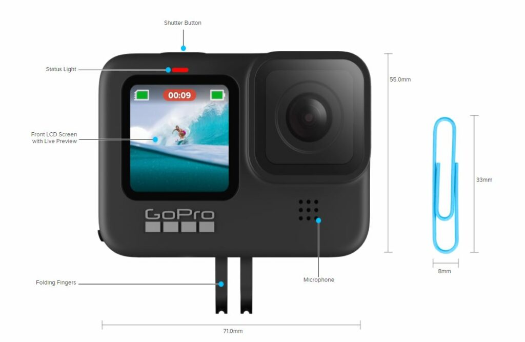 GoPro Hero9 Black Front Side