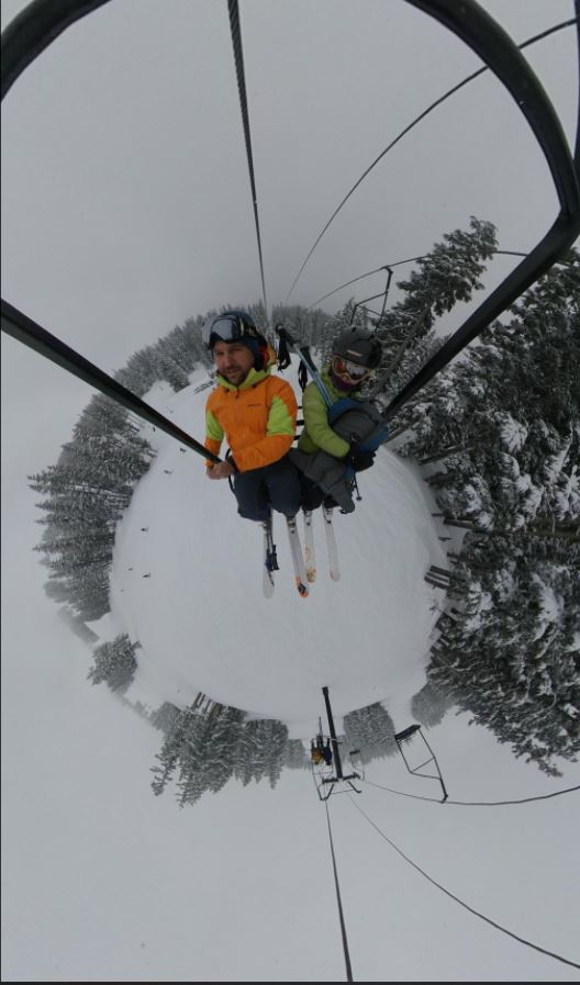 Insta360 One X 360 photo quality Snow