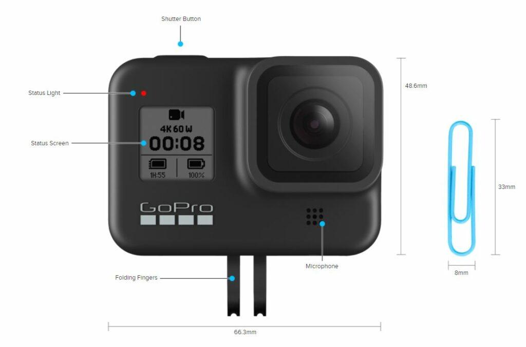 GoPro Hero8 Black Dimensions
