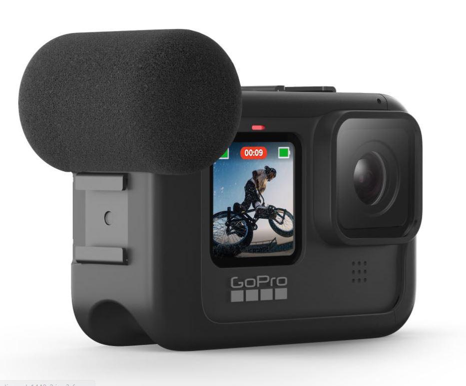 GoPro Hero9 Black Media Mod with the camera 2