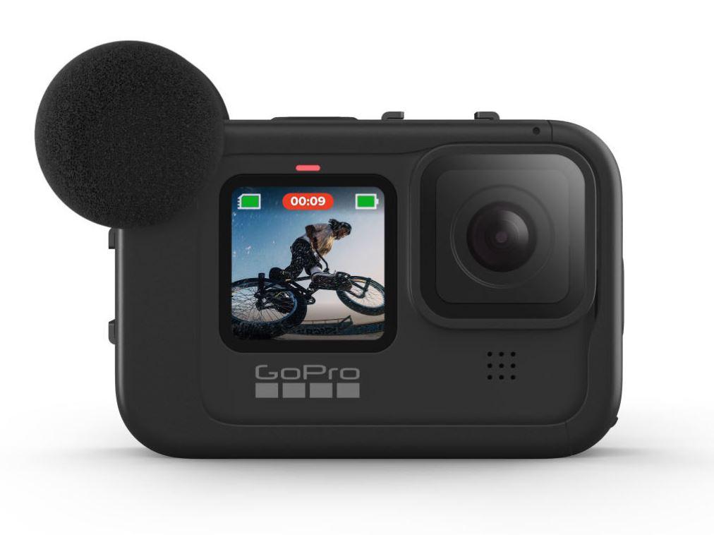 GoPro Hero9 Black Media Mod with the camera