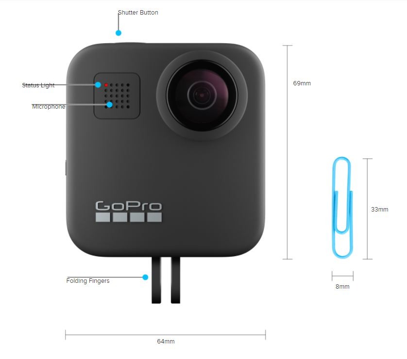 GoPro Max dimensions