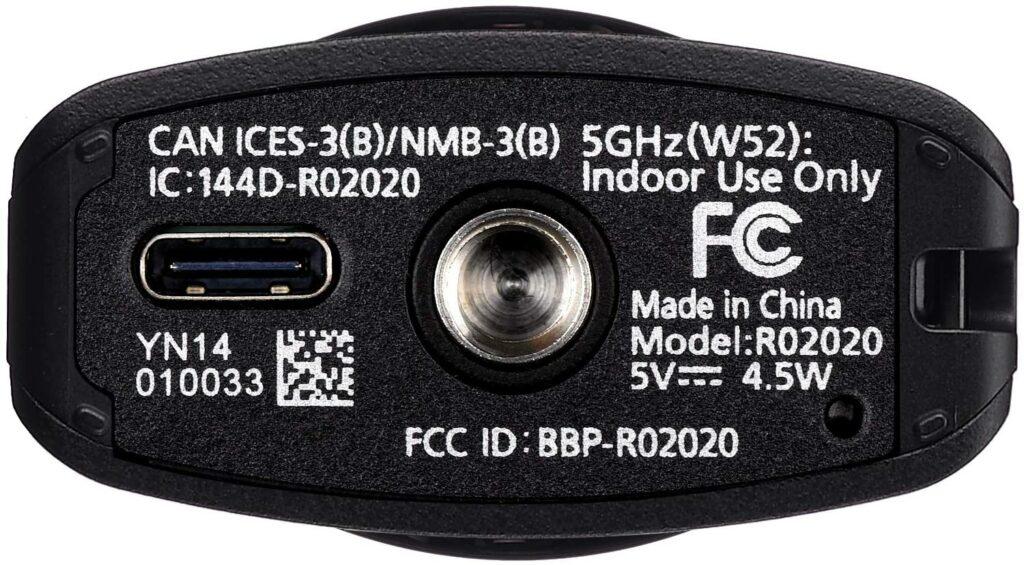 Ricoh Theta Z1 USB C port